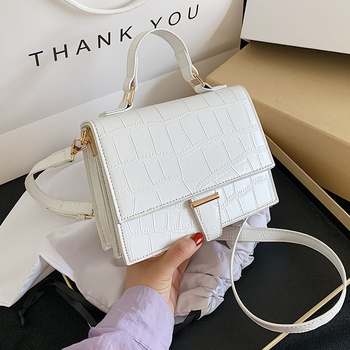Stone Pattern Totes Mini PU Leather Crossbody Bags For Women 2020 Simple Travel Summer Fashion Shoulder Handbags And Purses