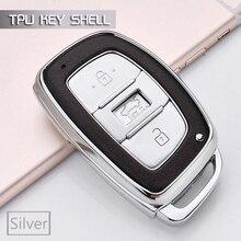 Горячая 3 кнопочный ключ автомобиля кошелек Чехол сумка брелок для hyundai I20 I30 I40 L109 hb20 Fe Creta Mistra Accent Solaris чехол