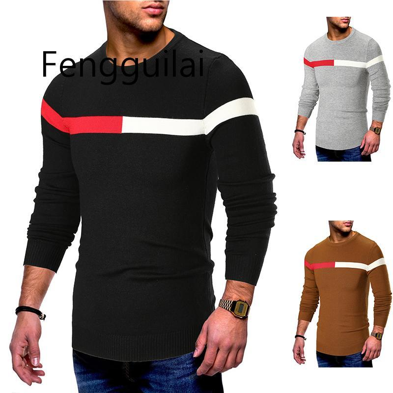 Men Sweater Knitted Pullovers Clothes Modis Pullover Mens Casual Sweater Men's Slim Fit O Neck Sweater Men Jumper Autumn Winter