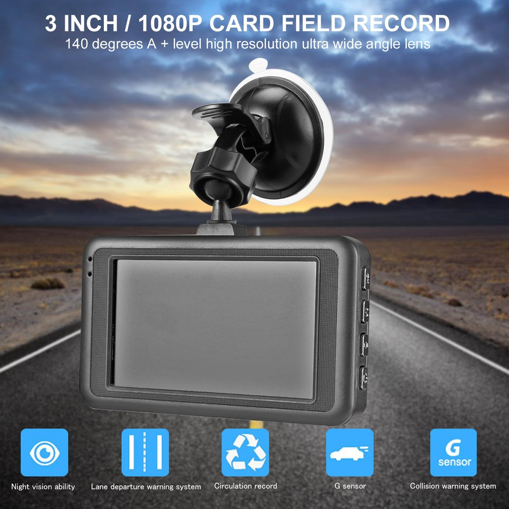 Car DVR Camcorder Driving-Recorder Video-Looping Night-Vision Degrees Wide-Angle 1080P