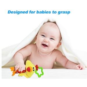 Image 3 - תליית קטיפה תינוק צעצוע רעשן יפה קריקטורה בעלי החיים פעמון יילוד עגלת אביזרי תינוק צעצועי 6 סגנון אריה צבי פיל WJ148