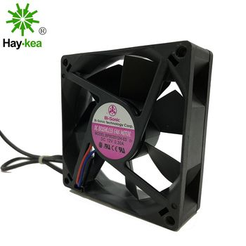 The original for Bi-Sonic BP802512H-03  80*80*25MM 80CM 8025 DC 12V 0.3A cabinet chassis cooling fan