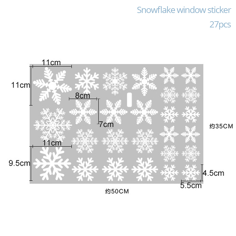 27Pcs Christmas Snowflake Window Sticker Christmas Wall Stickers Room Wall Decals Christmas Decorations for Home New Year 2021 4