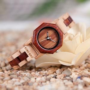 Image 3 - BOBO BIRD reloj de madera de cuarzo para mujer, exquisito reloj de diseño creativo octagonal, caja de regalo, 2020