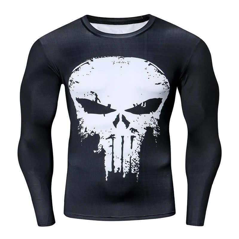 Kompresi Kemeja Pelatihan Pelatihan Kebugaran Pria Cosplay Penjaga Ruam Plus Ukuran Binaraga T Shirt 3D Dicetak Superman Atasan untuk Pria