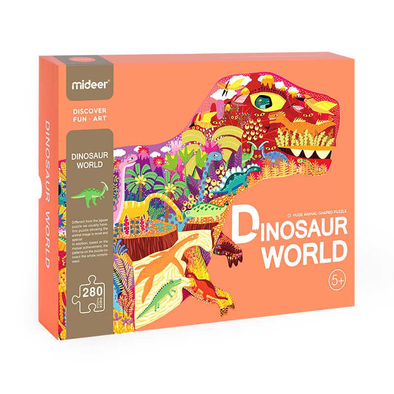 Mideer, 280 шт., головоломка, детский интеллект, динозавр, головоломка, раннее образование, игрушки для детей 3-4-5-6 лет, пазлы, игрушки