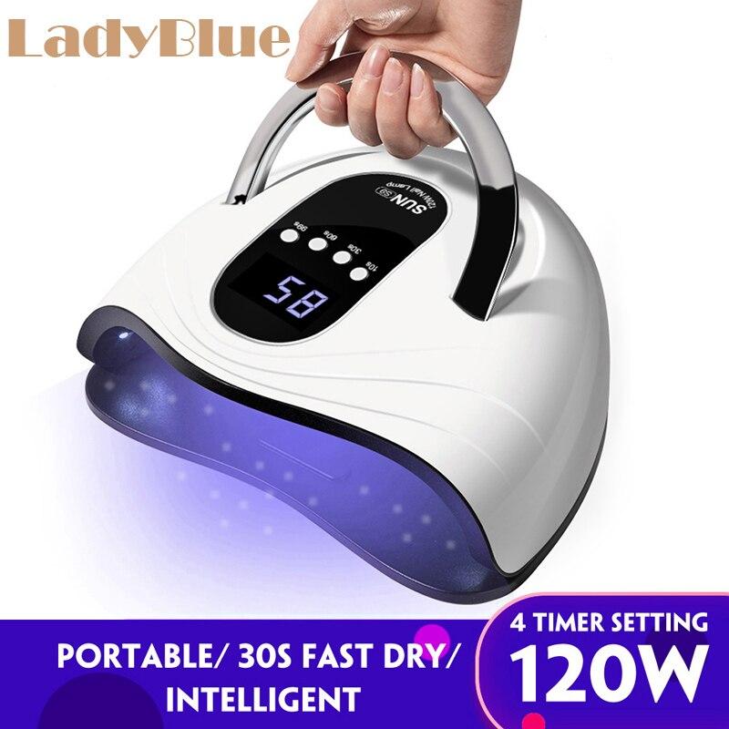 120w secador de unhas gel polones inteligente sensor 42 pcs uv led lampada rapida cura velocidade