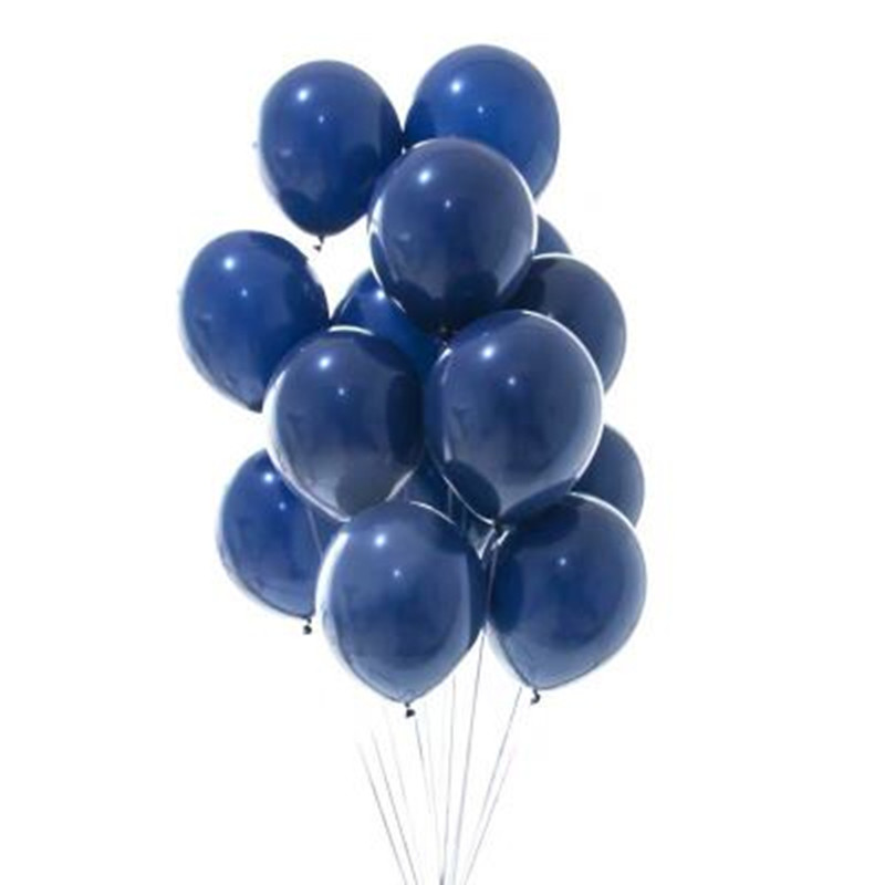 XXYYZZ 10PCS <font><b>10</b></font>/12inch Ink Blue Latex Balloons Dark Blue Helium Air Balloon <font><b>Birthday</b></font> Wedding <font><b>Decoration</b></font> Party Balloon Supplies image