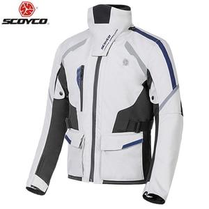 Image 1 - SCOYCO Autumn Winter Motorcycle Jacket Men Waterproof Windproof Moto Riding Racing Motorbike Suit Protective Gear,JK108