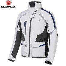 Scoyco outono inverno jaqueta da motocicleta dos homens à prova dwindproof água de vento moto equitação corrida terno engrenagem protetora, jk108