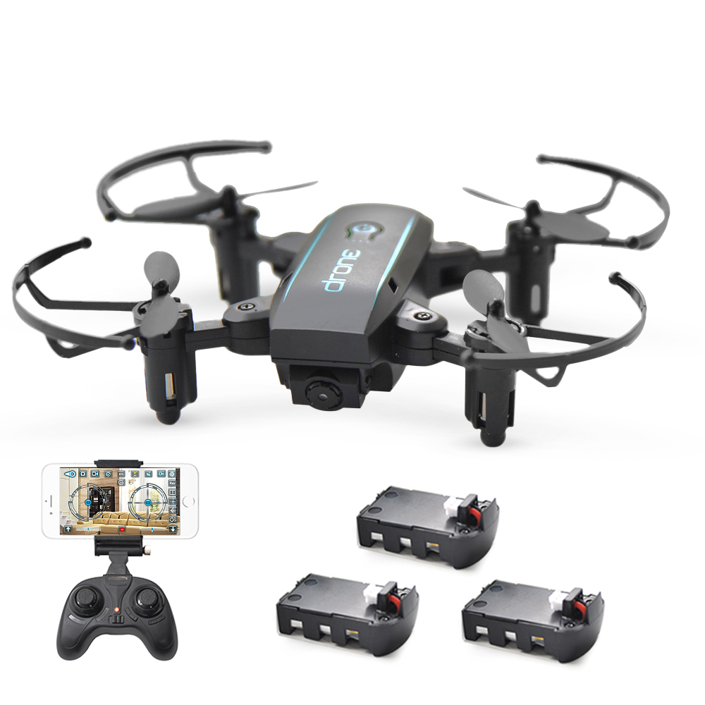 Linxtech IN1601 Dron 2.4G 720P Mini Drone with Camera Wifi FPV Foldable Altitude Hold Quadcopter Helicopter Toys 3 Batteries-in RC Helicopters from Toys & Hobbies    1