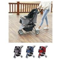 DODOPET Pet Dog Stroller Pet Dog Foldable Carrier Strolling Cart 3 Wheel Pet Stroller