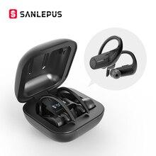 SANLEPUS bezprzewodowe słuchawki Bluetooth 5.0 TWS słuchawki LED wyświetlacz zestaw słuchawkowy z mikrofonem Stereo douszne dla wszystkich telefonów Xiaomi