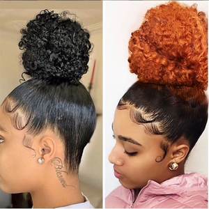 Colored Curly 360 Lace Forntal Wig Remy Ginger Orange Ombre Human Hair Wig Pre Plucked With Baby Hair For Black Women(China)