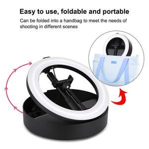 Image 3 - LANBEIKA 10 inç 26cm USB 3 modu LED Selfie halka ışık fotoğraf vlog Video ışığı katlanabilir standı Tripod ve masaüstü tutucu