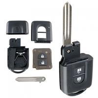 2 botões do carro inteligente remoto chave escudo apto para nissan micra x-trail/qashqai nota/juke parthfinder/duque
