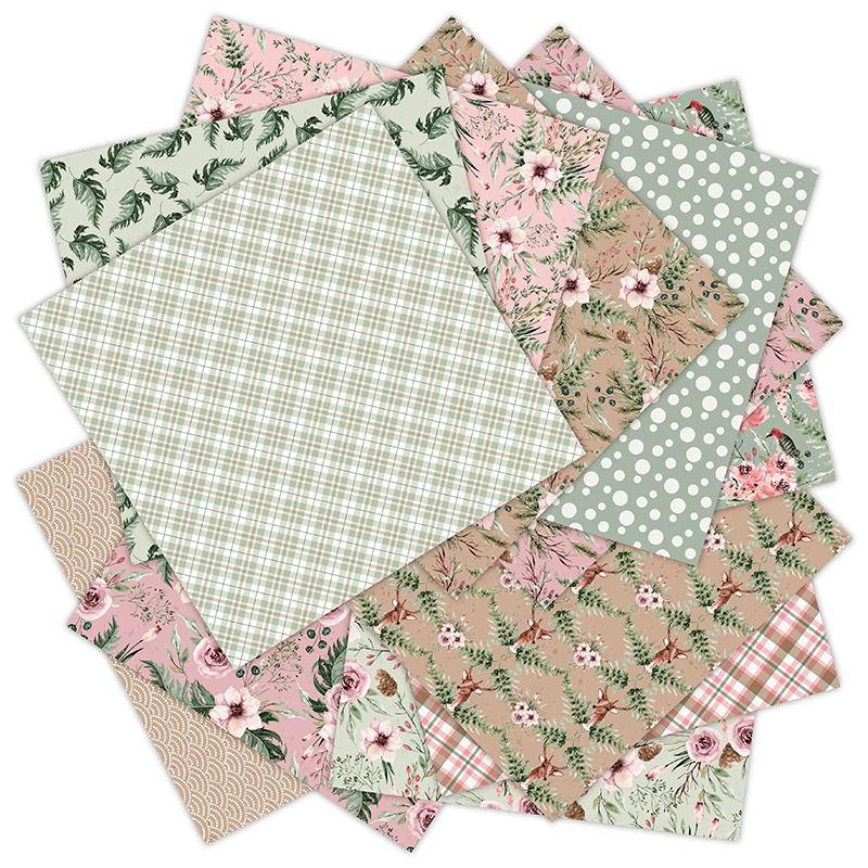 12 Sheets laste of winter Scrapbooking Pads Paper Origami Art Background Paper Card Making DIY Scrapbook Paper Craft 4