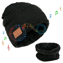 Wireless Bluetooth Headphones Christmas Gift Music Hat Smart Headset Beanie Cap Winter Hat with Speaker with Loop Scarf