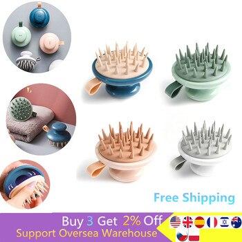 1Pcs Shampoo Brush Handheld Scalp Meridian Massage Brush Shower Hair Comb Portable Shampoo Brush Hair Care Comb 1