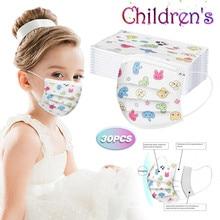 Printed-Masks Disposable Cubrebocas Mascarillas Children And for 3-Layer Infantil Headband