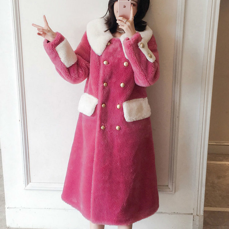 Real Fur Coat Wool Jacket Autumn Winter Coat Women Clothes 2020 Korean Vintage Sheep Shearling Streetwear Women Tops ZT3767