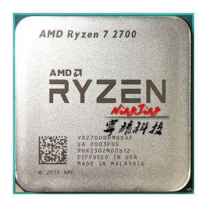 Image 2 - AMD Ryzen 7 2700 R7 2700 3.2 GHz ثمانية النواة Sinteen موضوع 16 M 65 W معالج وحدة المعالجة المركزية YD2700BBM88AF المقبس AM4