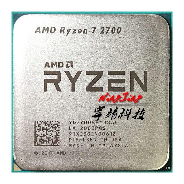 Amd ryzen 7 2700 r7 2700 3.2 ghz oito núcleo dezesseis thread 16m 65w processador central yd2700bbm88af soquete am4