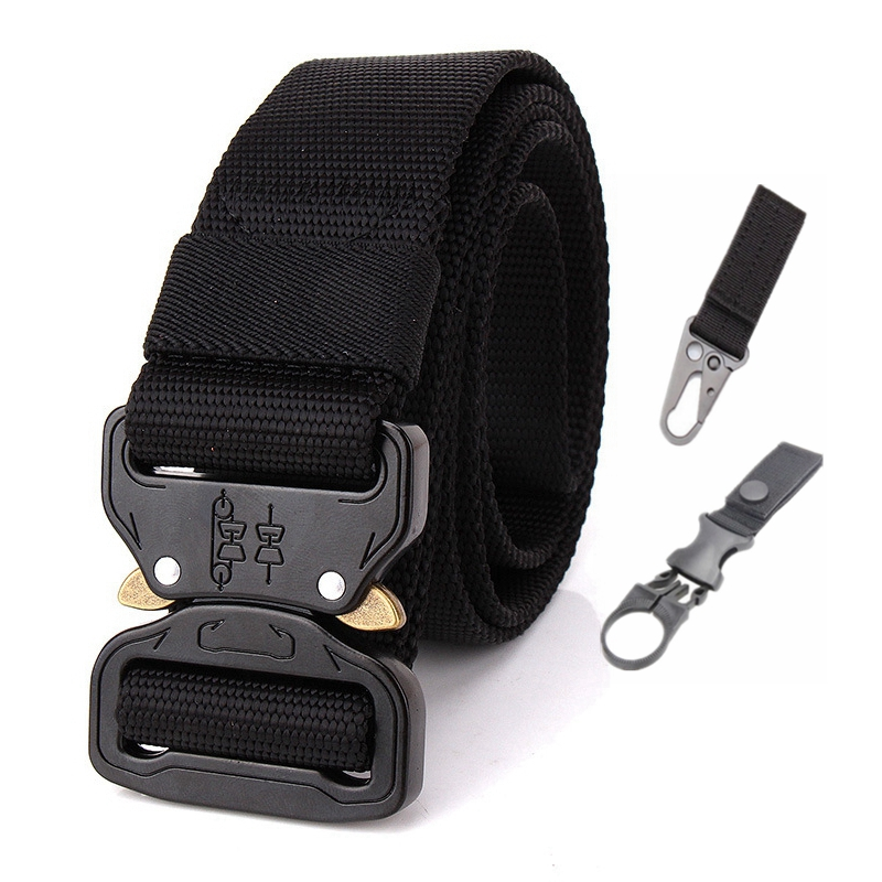 145cm Plus Size Tactical   Belt   Men Nylon Army   Belt   Outdoor Training High Quality Metal Military Buckle Active   Belt   Accessories