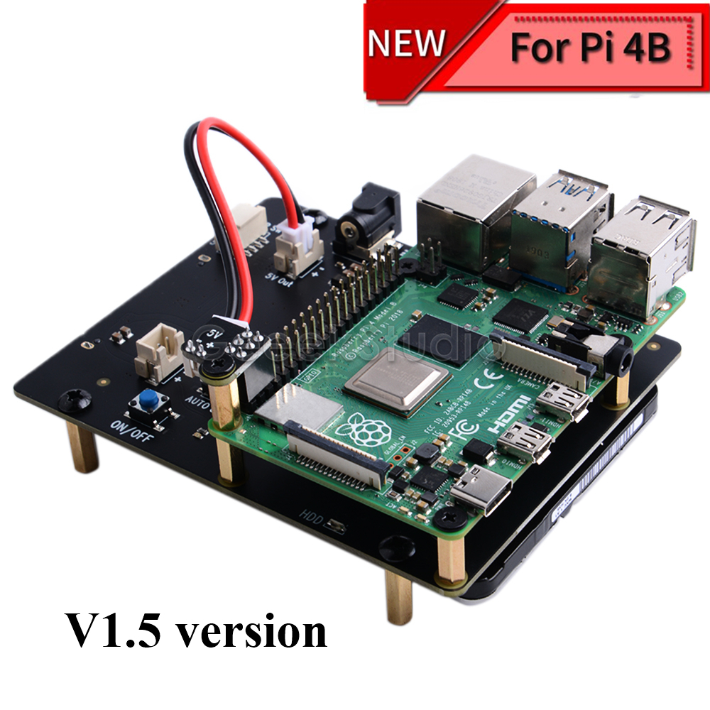 New Version! Raspberry X825 2.5 Inch SATA HDD/SSD Storage Expansion Board Acrylic Case For Raspberry Pi 4B ( 4 Model B )