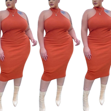 AYES Plus Size Dresses Clothing Women Large Size Dress Summer Solid Sleeveless Bodycon Mini Dresses Ample Femme Grand Taille