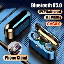 Mini tws bluetooth v5.0 fones de ouvido sem fio fones de ouvido em esportes à prova dwireless água fone sem fio fone fone fone bluetooth