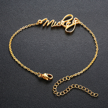 Trendy Personalized Name Charm Bracelet Women Anniversary Jewelry Adjustable Chain