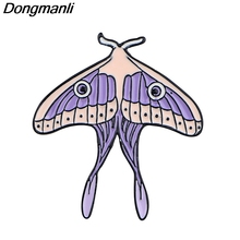 P5094 Dongmanli Moth Enamel Pins Brooch Women Lapel Backpack Bags Badge Fashion Jewelry Gifts