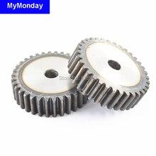 Ведущая шестерня шкив стойки 31-35 т зубы прямые зубы мод 1 м = 1 ширина 10 мм 45# сталь положительный низкий уровень шума гладкая CNC машина