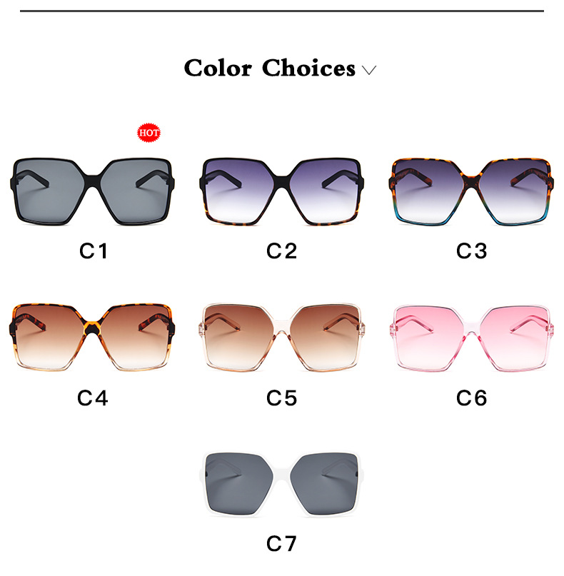 Higody Fashion Women Oversize Sunglasses Gradient Plastic Brand Designer Female Sun Glasses UV400 lentes de sol mujer 4
