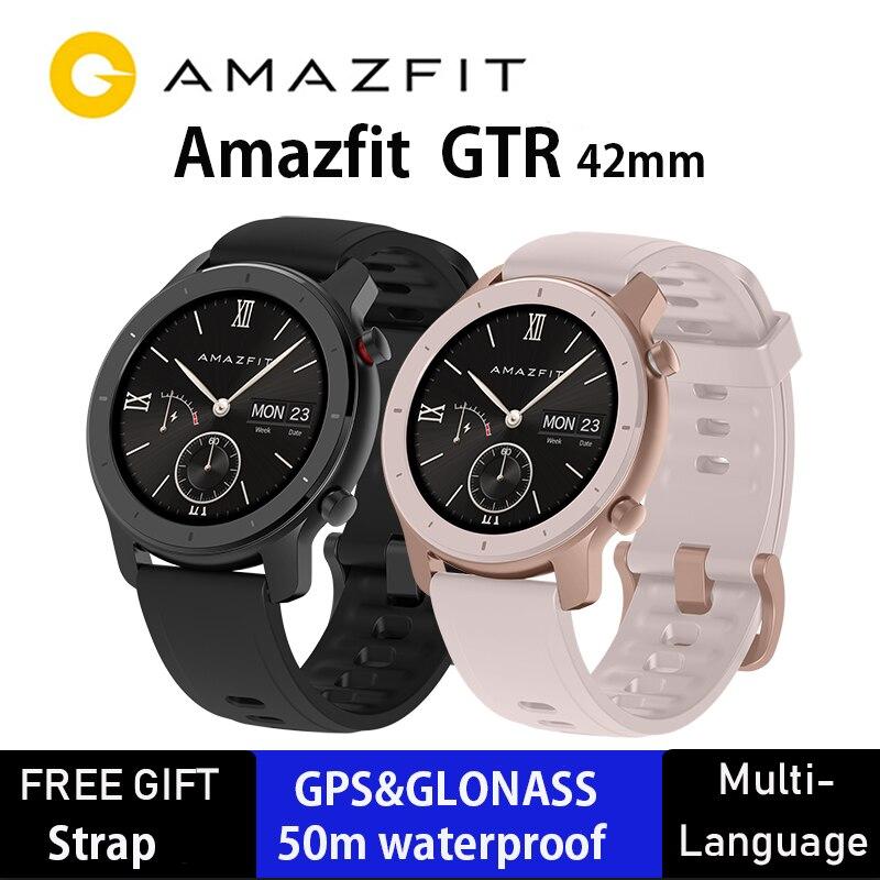 Version mondiale Huami Amazfit GTR 42mm montre intelligente 5ATM Smartwatch 12 jours batterie GPS contrôle de la musique pour Xiaomi Android IOS
