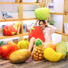 22 Styles Cute vegetables Pillow Soft Cushion fruit Stuffed Toy Real Life Fruits&Vegetables Soft Pillow Toys Kid Christmas Gift new multiple styles selected fruits vegetables cauliflower mushroom blueberry starwberry 9 soft plush doll toy