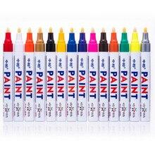 Аутентичная ручка для краски 12-color 3 мм покрышка Металлическая черная карточка масляного ремонта маркировочная ручка