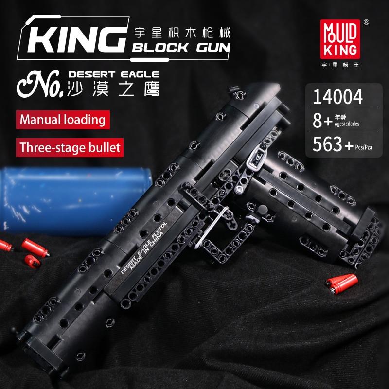 MOULD KING Gun Series Building Blocks Bricks The Desert Eagle Pistol Weapon SWAT Gun Model Bricks Kids Toys Boys Christmas Gifts