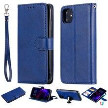 יוקרה Flip כיסוי עבור iPhone 12 מיני 11 פרו מקס XS XR SE 2020 7 8 בתוספת טלפון מקרה עור ארנק מגנטי 2in1 להסרה פגז