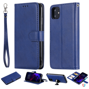 Image 1 - Luxury Flip Cover For iPhone 12 mini 11 Pro Max XS XR SE 2020 7 8 Plus Phone Case Leather Wallet Magnetic 2in1 Detachable Shell