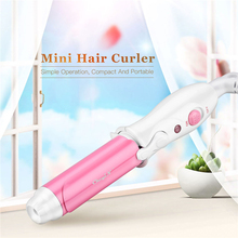 цены 2 Colors Portable Mini Curling Iron Tongs Magic Hair Curler Roller Ceramic Hair Curler Wand DIY Wave Hair Care Styling Tools