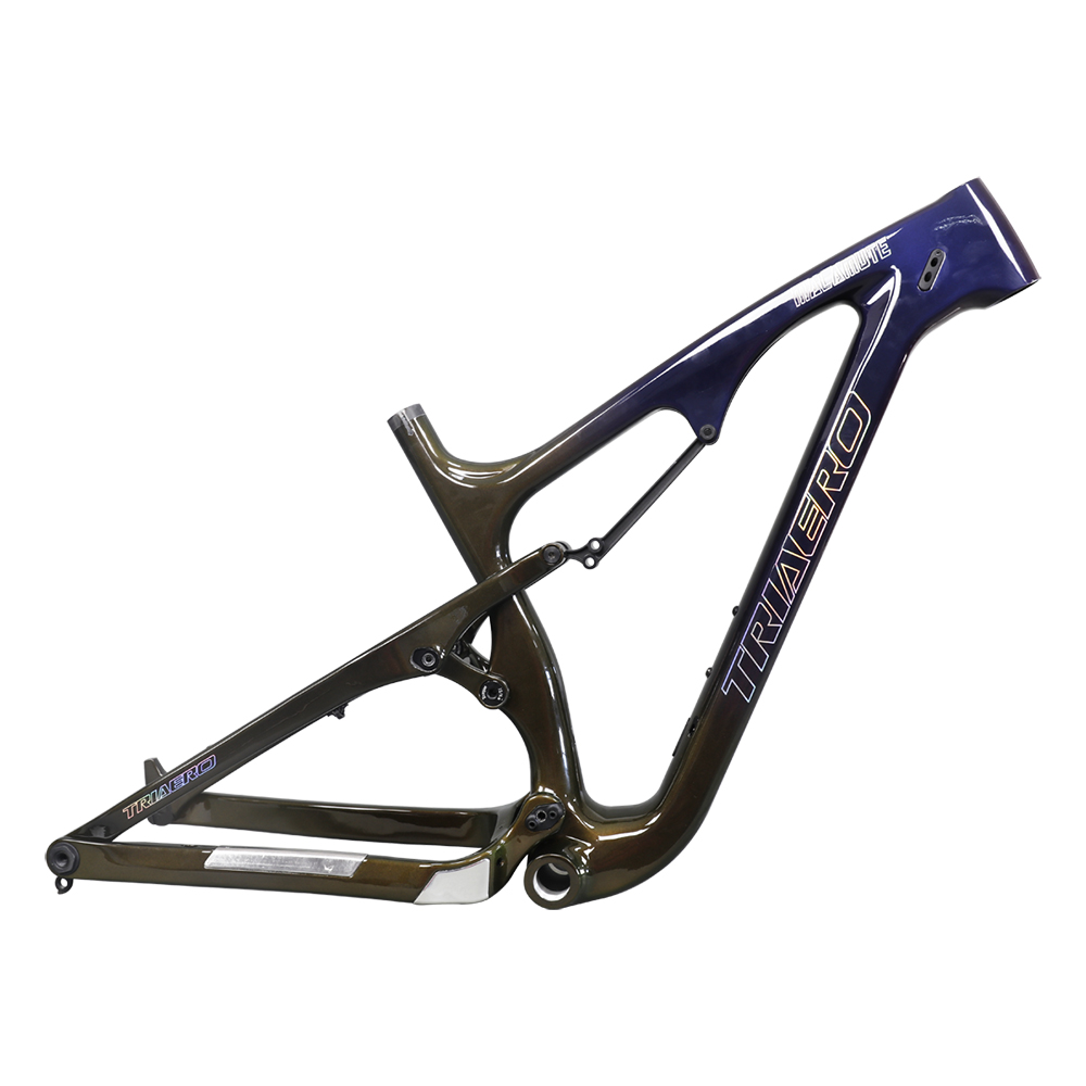 Ican <font><b>OEM</b></font> Custom Chameleon Painting 26ER full suspension carbon snow <font><b>bike</b></font> frame with rainbow decal 200x51 shock 4.8 max tire SN04 image