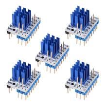 Driver passo, 5 peças tmc2209 v3.0 driver de passo passo mudo 256 micropassos corrente 2.8a pico vs tmc2208