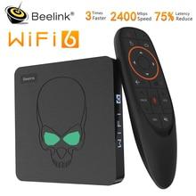 Beelink GT rey WIFI 6 caja Android 9,0 caja de Tv DDR4 4GB 64GB 1000M LAN inteligente Neo Tv 5,8G Dual Wifi 4K reproductor de medios del GT-rey Pro