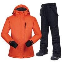 Snowboarding Suits Women Winter Windproof Waterproof Female Ski Jacket And Snow Pants Sets Super Warm Brands Women Ski Suit