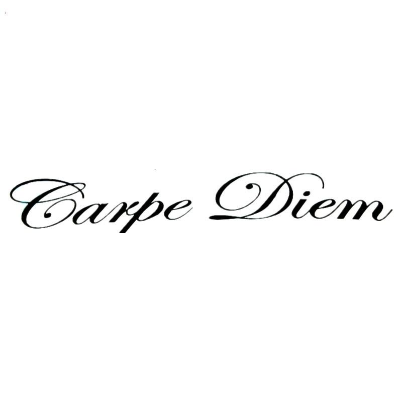 JDM Carpe Diem Art Sticker Creative Car Window Body Decor Styling Cover Scratches Bumper Windshield Accessories KK 20cm X 4.5cm