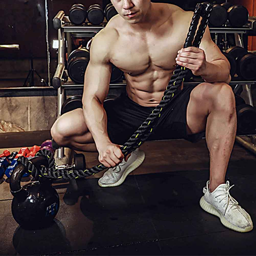 Heavy Skipping Calorie Fitness Jump Rope Improve Strength Workout Sports Building Muscle Lose Weight Thick Weighted Training