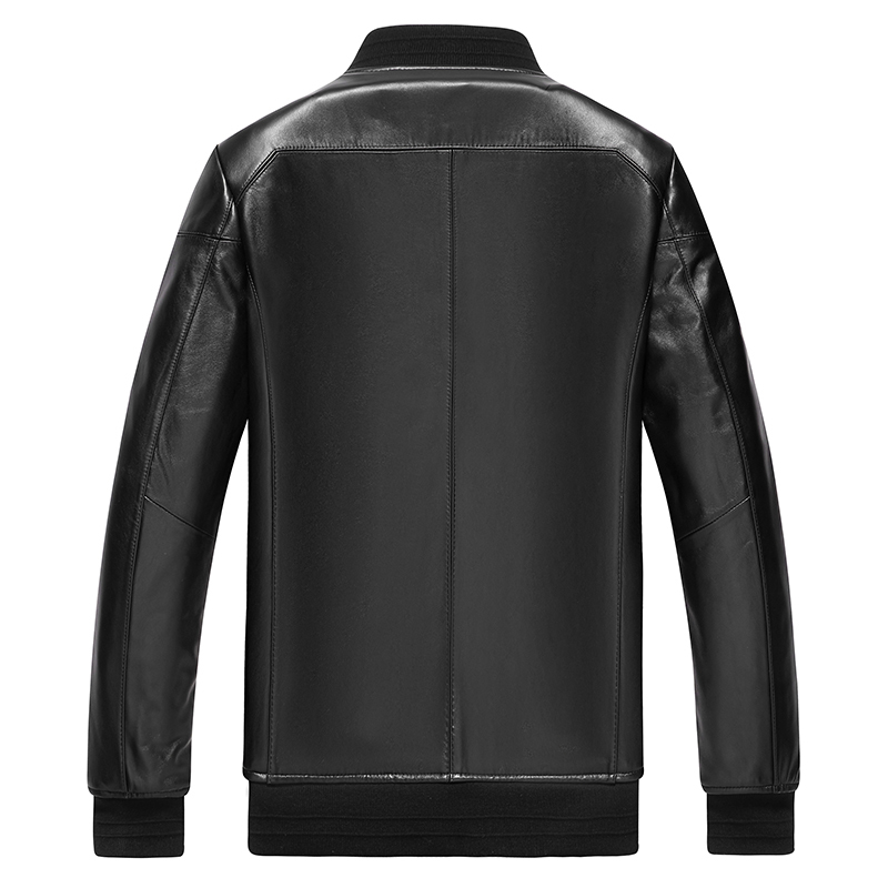 AYUNUSE Men's Genuine Leather Jacket 2020 100% Sheepskin Leather Coat Motorcycle Bomber Jacket Casual Slim Fit P-1-F13 KJ3512