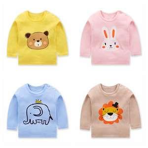 T-Shirt Clothing Casual-Tops Long-Sleeve Toddler Baby-Girls Cotton Boy O-Neck Autumn